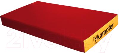 Гимнастический мат Kampfer №1 100x50x10см (красный/желтый)