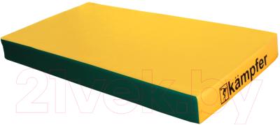 Гимнастический мат Kampfer №1 100x50x10см (красный/желтый) - Обратная сторона для модели другого цвета