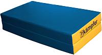 Гимнастический мат Kampfer №4 100x100x10см (синий/желтый) -