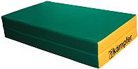 Гимнастический мат Kampfer №4 100x100x10см (зеленый/желтый) -