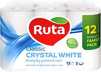 Туалетная бумага Ruta Classic (белая, 12рул) -