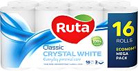Туалетная бумага Ruta Classic (белая, 16рул) -