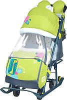 Санки-коляска Ника Детям 7-2 New (жираф, лимонный) -