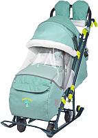 Санки-коляска Ника Детям 7-3 (зеленый) -