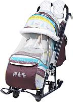 Санки-коляска Ника Детям 7-3 (скандинавский бирюзовый) -