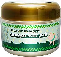 Маска для лица кремовая Elizavecca Green Piggy Collagen Jella Pack коллагеновая (100г) -