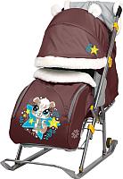 Санки-коляска Ника Детям 6 / НД6 (бельчонок, шоколадный) -