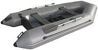 Надувная лодка Vivax Т300 с ковриком-сланью (без киля, серый/черный) -