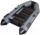Моторная лодка Vivax Т280 с ковриком-сланью (без киля, серый/черный) -