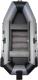 Надувная лодка Vivax К300Т с ковриком-сланью (без киля, серый/черный) -