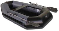 Гребная лодка Vivax К220 с ковриком-сланью (без киля, серый/черный) -