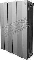 Радиатор биметаллический Royal Thermo PianoForte 500 Silver Satin (12 секций) -