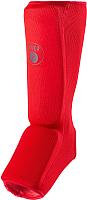 Защита голень-стопа RuscoSport M (красный) -