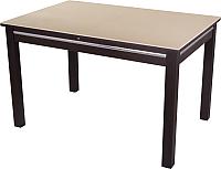 Обеденный стол Домотека Самба (кремовый/венге) -