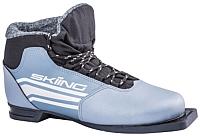 Ботинки для беговых лыж TREK Skiing ИК 2 (серый, р-р 36) -