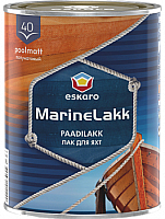 Лак яхтный Eskaro Marine Lakk 40 (950мл, полуматовый) -