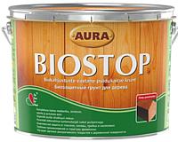 Грунтовка Aura Wood Biostop для древесины (9л) -