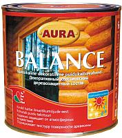 Защитно-декоративный состав Aura Wood Balance (700мл, тик) -