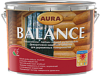 Защитно-декоративный состав Aura Wood Balance (9л, тик) -