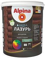 Лазурь для древесины Alpina Аква (2.5л, орех) -