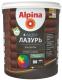 Лазурь для древесины Alpina Аква (900мл, тик) -