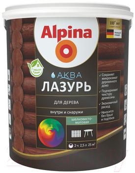 Лазурь для древесины Alpina Аква (2.5л, кедр)