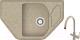 Мойка кухонная Berge BR-8050 + смеситель Spring 3509L (песочный/классик) -
