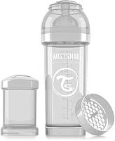 Бутылочка для кормления Twistshake Diamond антиколиковая / 78012 (260мл, белый) -