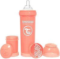 Бутылочка для кормления Twistshake Pastel Peach антиколиковая/ 78316 (330мл, пастельный персиковый) -