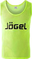 Манишка футбольная Jogel JBIB-1001 (р-р 48-50, лимонный) -