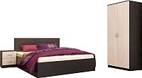 Комплект мебели для спальни Интерьер центр Ронда Мини (венге/беленый дуб) -