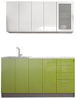 Готовая кухня Интерьер центр Олива 1.6 (зеленый/белый) -