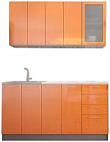 Готовая кухня Интерьер центр Олива 1.6 (оранжевый) -