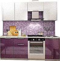 Готовая кухня Интерьер центр Олива 2.1 (сирень/белый) -