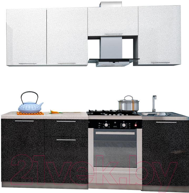 Купить Готовая кухня Интерьер центр, Олива 2.1 (черный/белый), Россия
