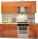Готовая кухня Интерьер центр Олива 2.1 (оранжевый) -