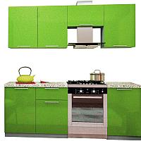 Готовая кухня Интерьер центр Олива 2.1 (зеленый) -