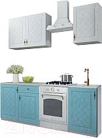 Готовая кухня ДСВ Гранд 1.5 (зеленый/белый) -