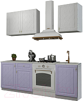 Готовая кухня ДСВ Гранд 1.5 (фиалка/белый) -