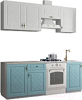 Готовая кухня ДСВ Гранд 2.1 (зеленый/белый) -