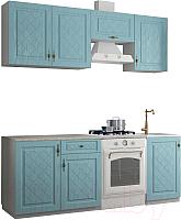 Готовая кухня ДСВ Гранд 2.1 (зеленый) -