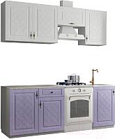 Готовая кухня ДСВ Гранд 2.1 (фиалка/белый) -