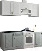 Готовая кухня ДСВ Гранд 2.1 (пепел/белый) -
