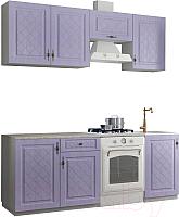 Готовая кухня ДСВ Гранд 2.1 (фиалка) -