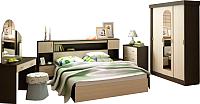Комплект мебели для спальни Интерьер центр Бася (венге/беленый дуб) -
