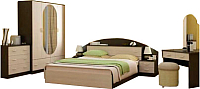 Комплект мебели для спальни Интерьер центр Александра (венге/беленый дуб) -