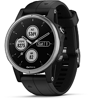 Умные часы Garmin Fenix 5s Plus / 010-01987-21 (серебристый/черный) -
