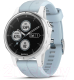 Умные часы Garmin Fenix 5s Plus / 010-01987-23 (белый/голубой) -