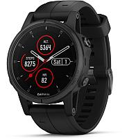 Умные часы Garmin Fenix 5s Plus Sapphire / 010-01987-03 (черный) -