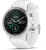 Умные часы Garmin Fenix 5s Plus Sapphire / 010-01987-01 (белый) -
